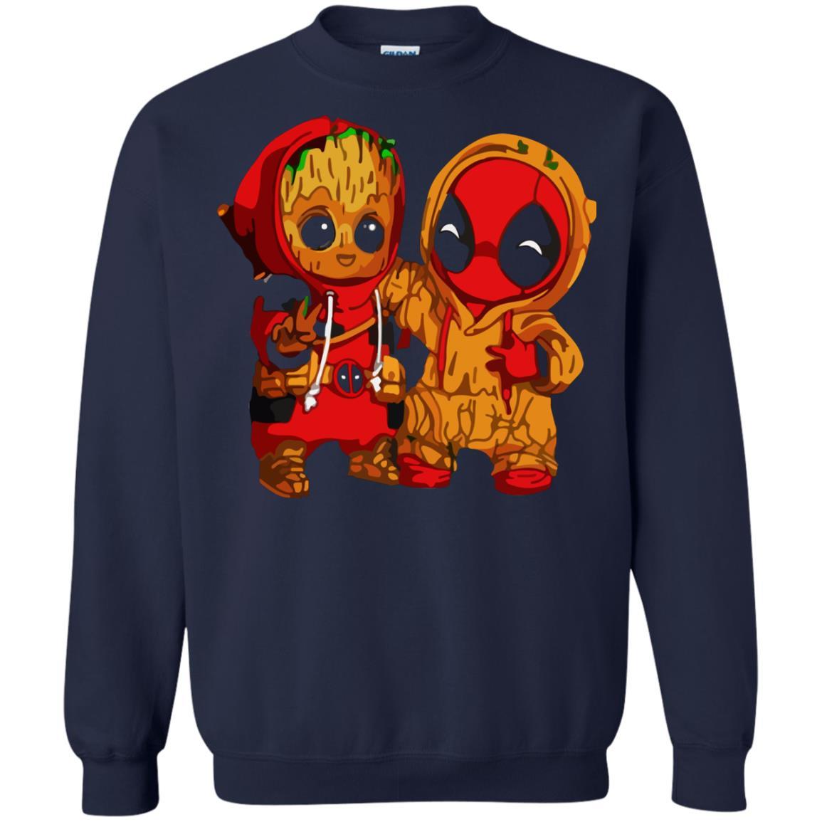 image 438 - Baby Groot And Deadpool Sweatshirt, Hoodie
