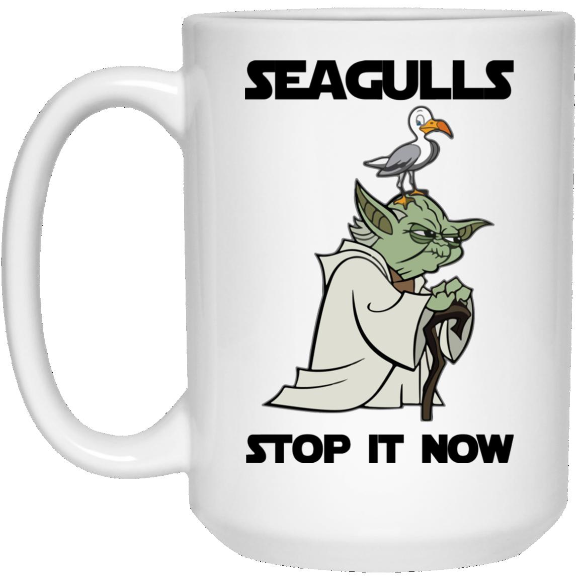 image 5 - Yoda Seagulls Stop It Now Mug