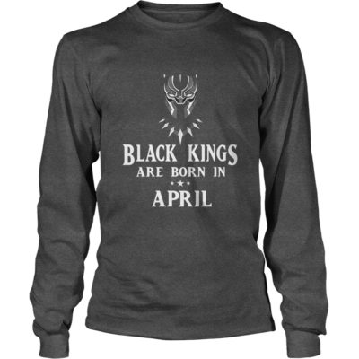 90178 1519550517430 Gildan Lon Dark Grey  w97  front 400x400 - Black Panther: Black Kings Are Born In April Shirt, Hoodie, LS