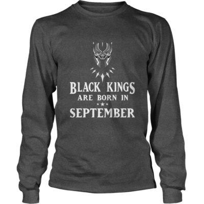 90178 1519660384879 Gildan Lon Dark Grey  w98  front 400x400 - Black Panther: Black Kings Are Born In September Shirt, Hoodie, LS