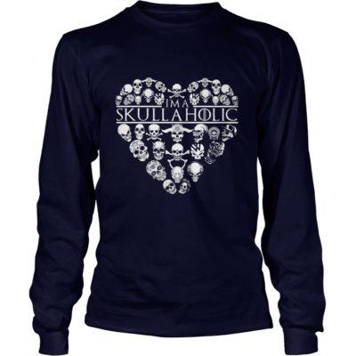 I'm A Skullaholic Shirt3 400x400 - I'm A Skullaholic Shirt, Hoodie, LS, SweatShirt