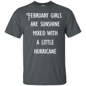 image 220 300x300 - February Girls Are Sunshine Mixed With A Little Hurricane T-shirt