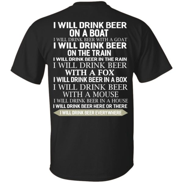 image 312 600x600 - I Will Drink Beer On a Boat I Will Drink Beer With a Goat Shirt