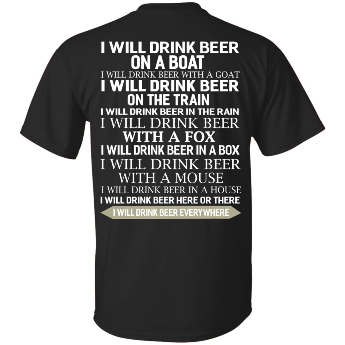 image 312 - I Will Drink Beer On a Boat I Will Drink Beer With a Goat Shirt