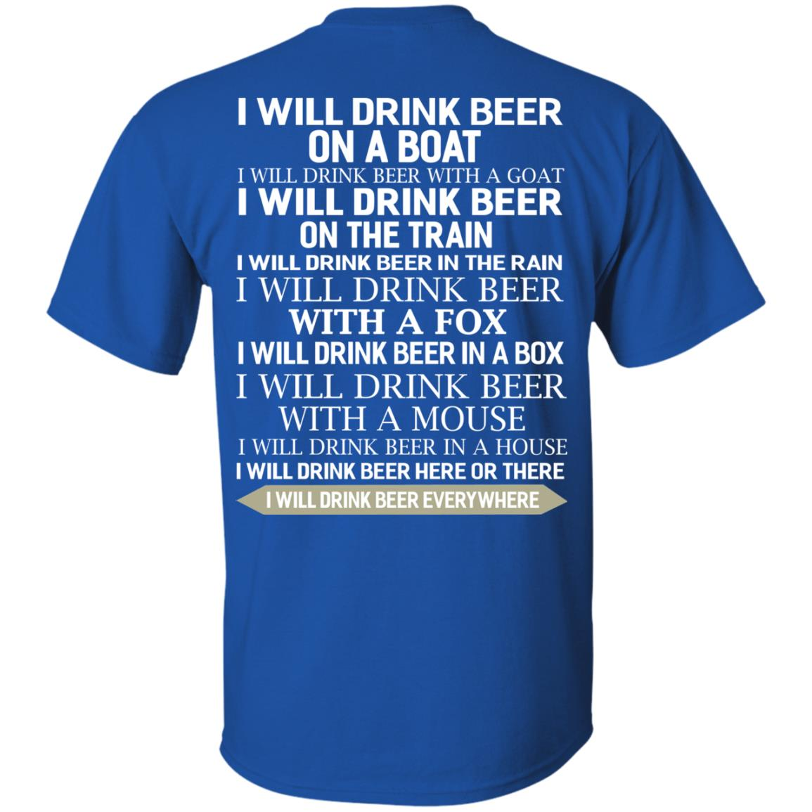 image 313 - I Will Drink Beer On a Boat I Will Drink Beer With a Goat Shirt