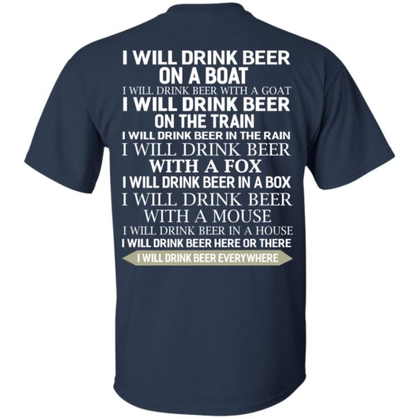 image 314 600x600 - I Will Drink Beer On a Boat I Will Drink Beer With a Goat Shirt
