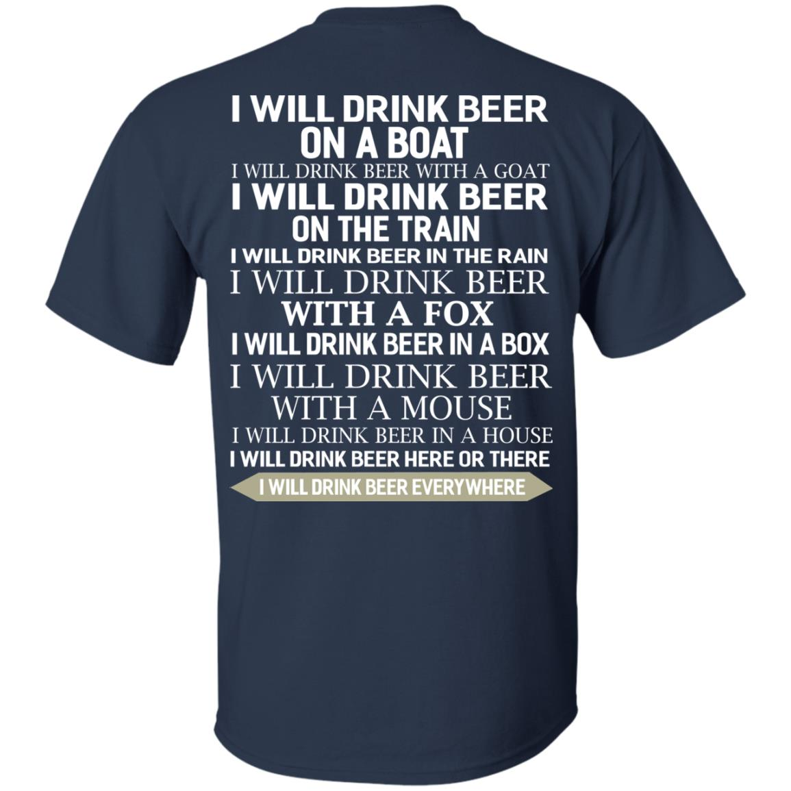 image 314 - I Will Drink Beer On a Boat I Will Drink Beer With a Goat Shirt