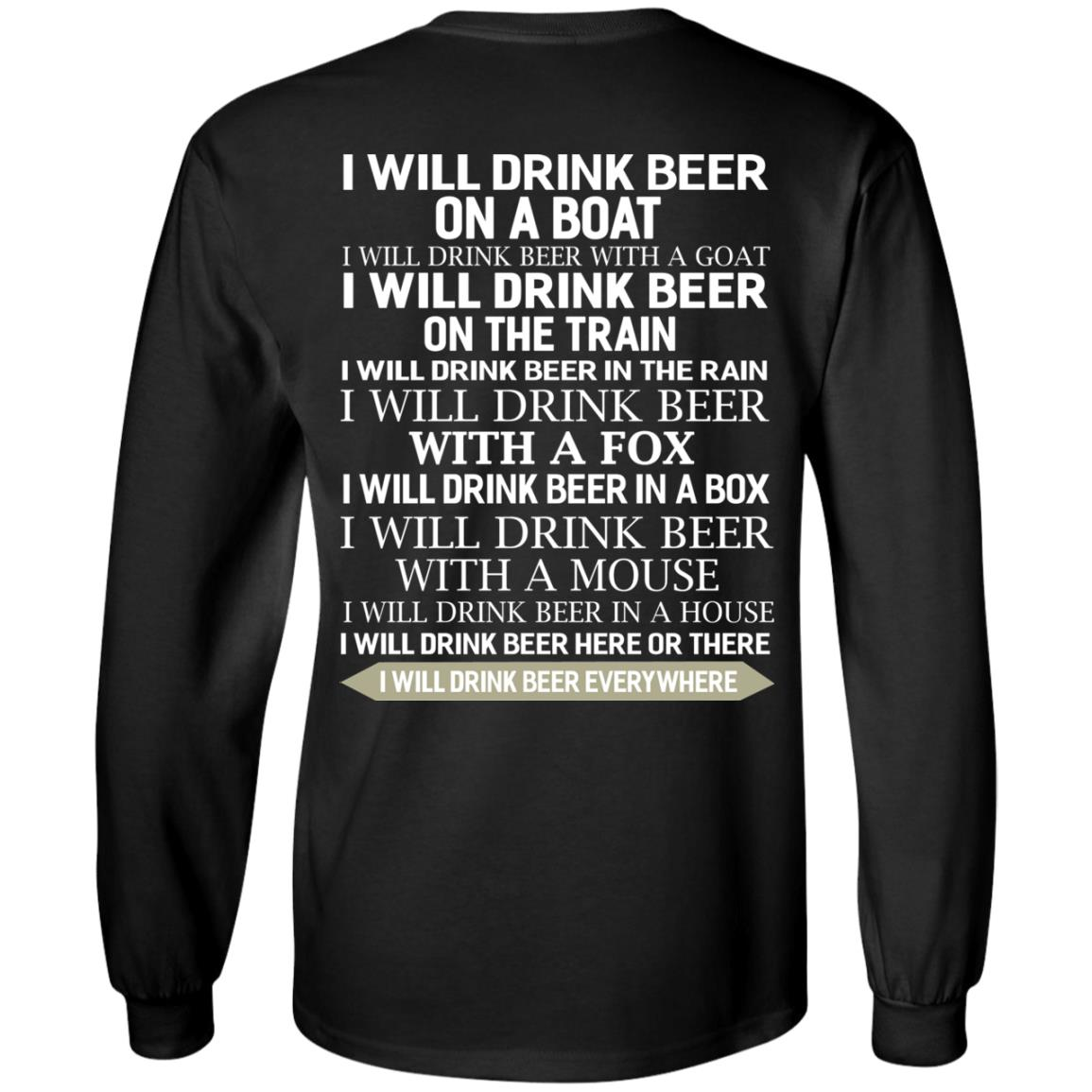 image 315 - I Will Drink Beer On a Boat I Will Drink Beer With a Goat Shirt
