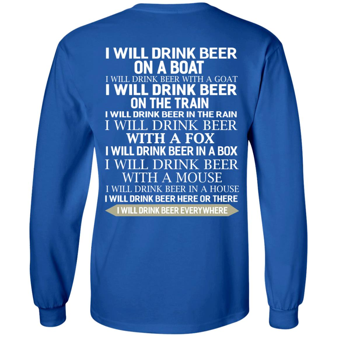image 316 - I Will Drink Beer On a Boat I Will Drink Beer With a Goat Shirt