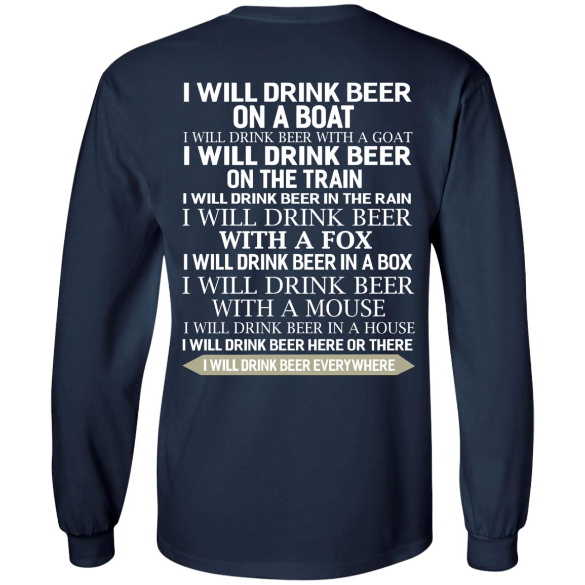 image 317 - I Will Drink Beer On a Boat I Will Drink Beer With a Goat Shirt