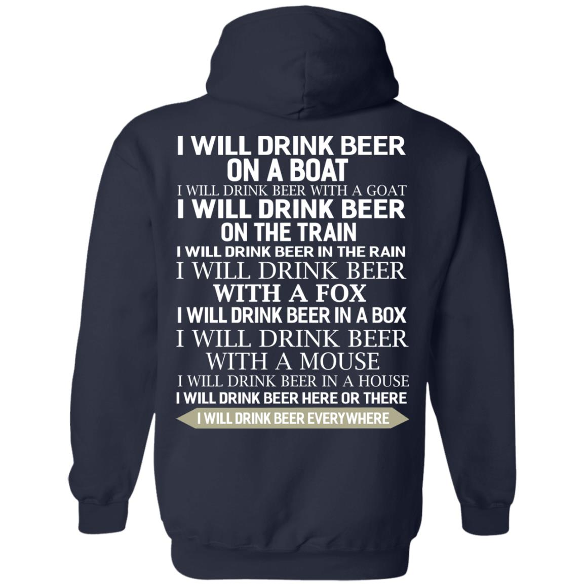 image 319 - I Will Drink Beer On a Boat I Will Drink Beer With a Goat Shirt