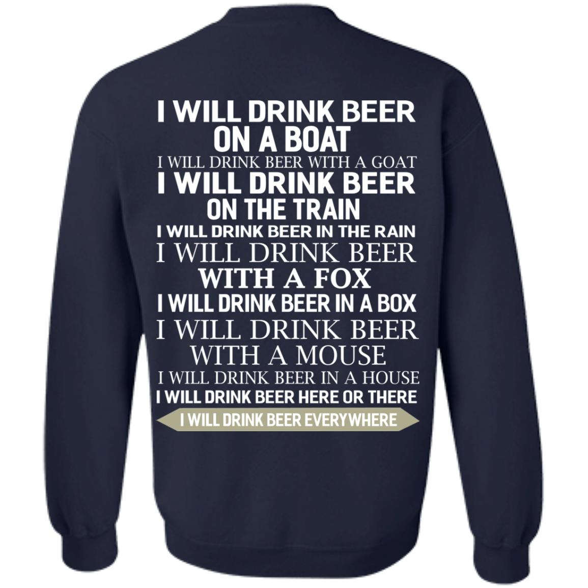 image 321 - I Will Drink Beer On a Boat I Will Drink Beer With a Goat Shirt