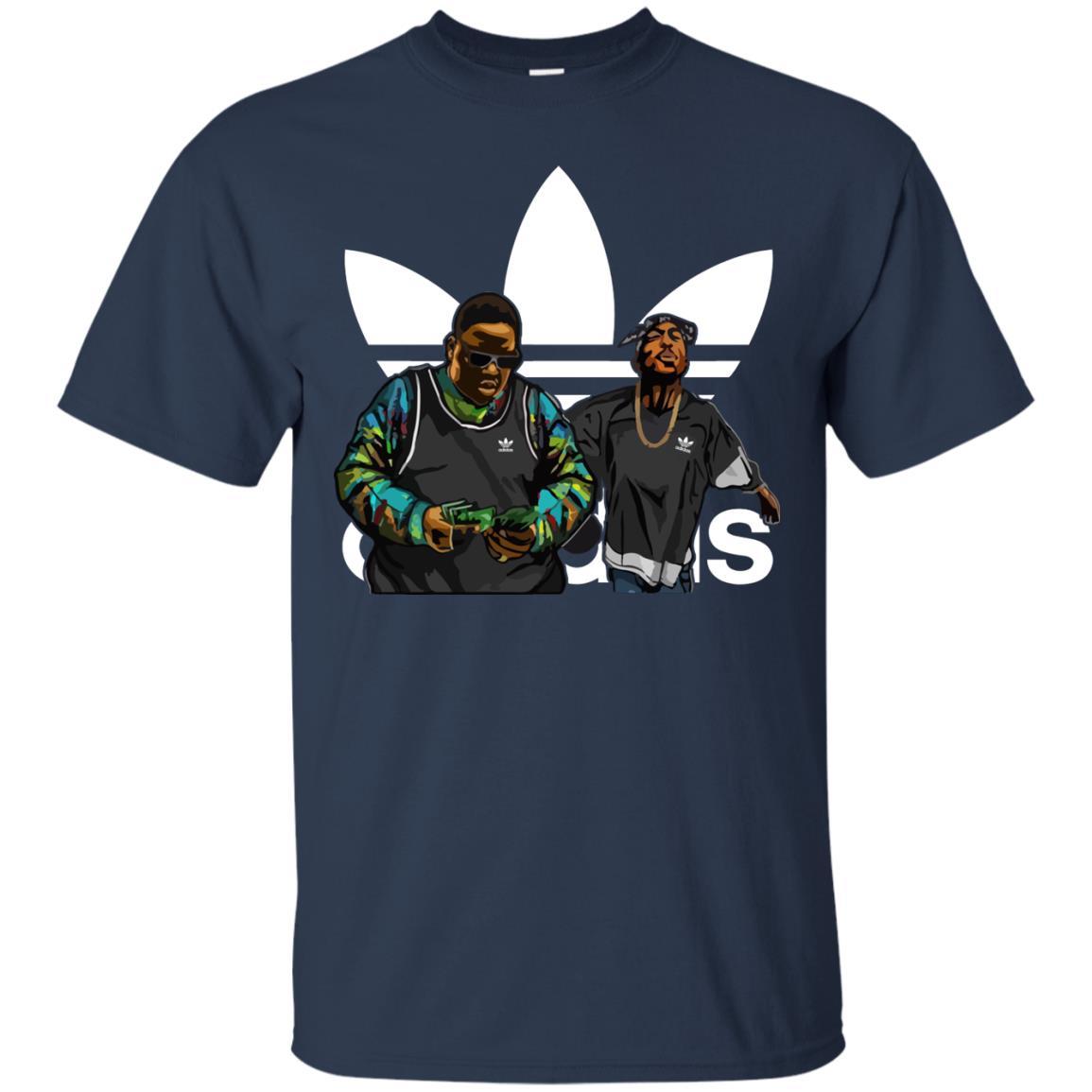 33f4aab59 Notorious B.I.G Tupac Shakur Adidas Shirt, Sweatshirt, Hoodie - Rockatee