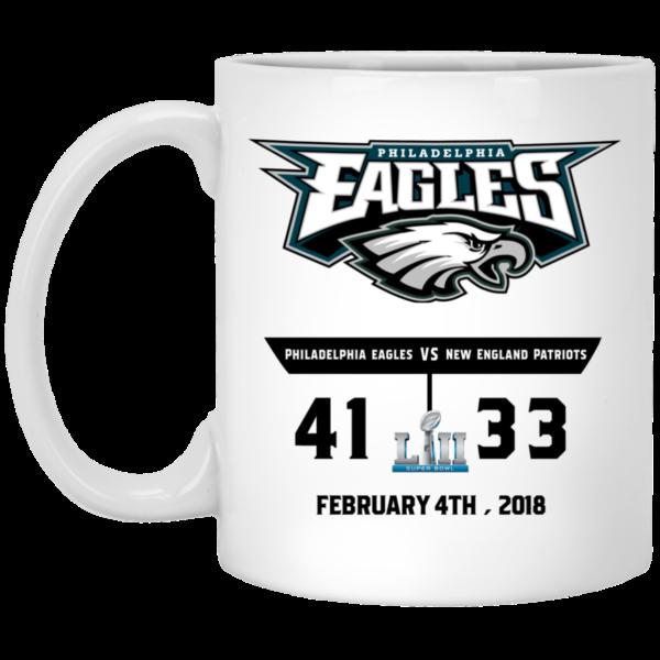 image 600x600 - Eagles 41 - 33 Super Bowl Mug