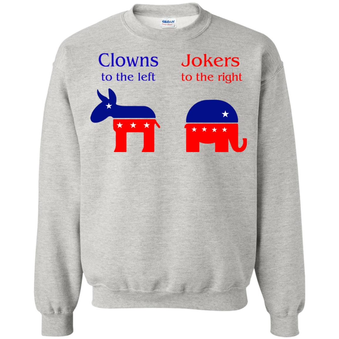 image 79 - Clowns To The Left, Jokers To The Right Shirt, Sweatshirt, Hoodie