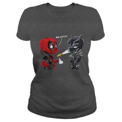 Bad Kitty Shirt2 400x400 - Deadpool Black Panther Bad Kitty Shirt, Hoodie, LS
