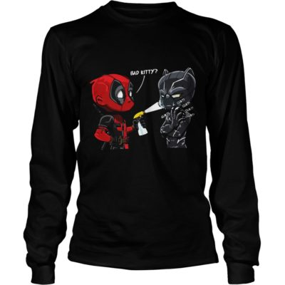 Bad Kitty Shirt3 400x400 - Deadpool Black Panther Bad Kitty Shirt, Hoodie, LS