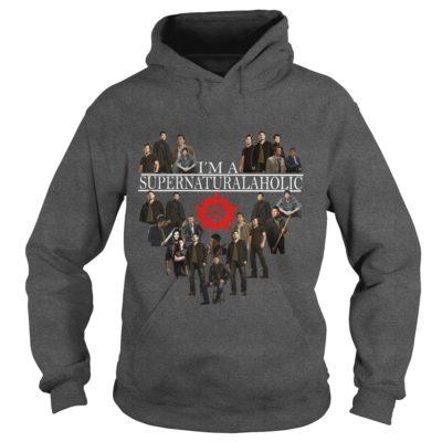 Im Supernatural Aholic Shirt1 400x400 - I'm Supernatural Aholic Shirt, Hoodie, Long sleeve