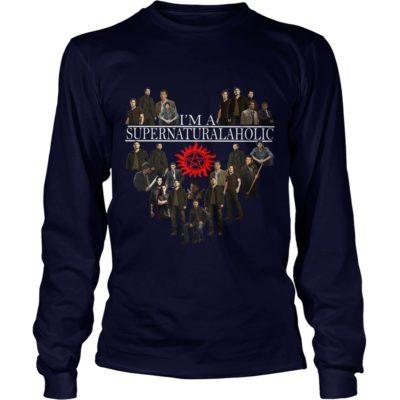 Im Supernatural Aholic Shirt2 400x400 - I'm Supernatural Aholic Shirt, Hoodie, Long sleeve