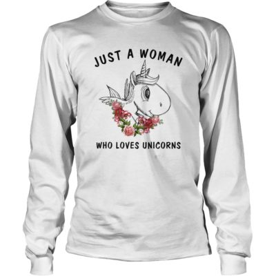Just A Woman Who Loves Unicorn Shirt3 400x400 - Just A Woman Who Loves Unicorn Shirt, Hoodie, LS