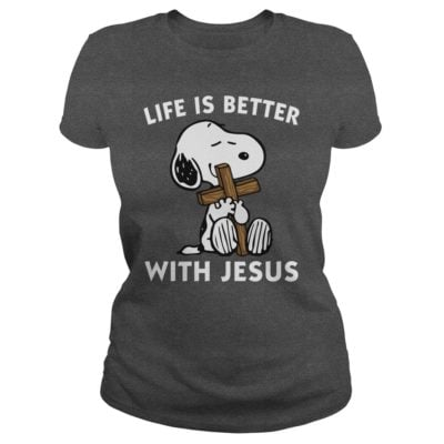 Snoopy Life Is Better With Jesus Shirt2 400x400 - Snoopy: Life Is Better With Jesus Shirt, Hoodie, Long sleeve