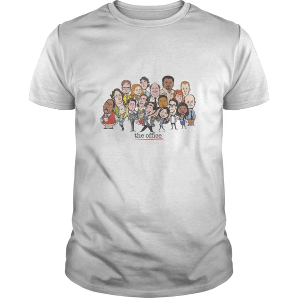 The Office Cartoons Character Shirt 600x600 - The Office Cartoons Character Shirt, Hoodie, LS