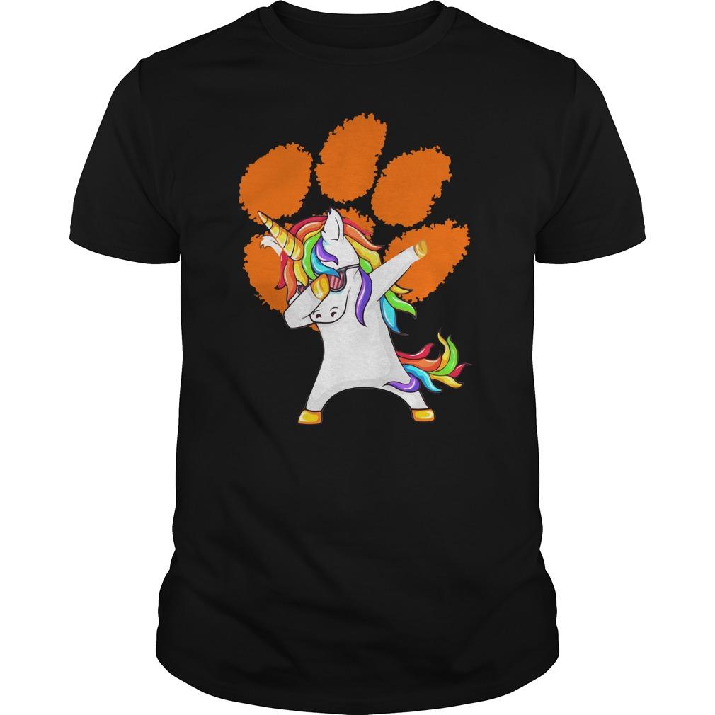 Unicorn Dabbing Clemson Tiger Shirt - Unicorn Dabbing Clemson Tiger Shirt, Hoodie, LS