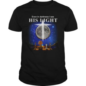 charlie brown snoopy even darkness see light shirt 300x300 - Charlie Brown & Snoopy: Even In Darkness I See His Light Shirt, Hoodie