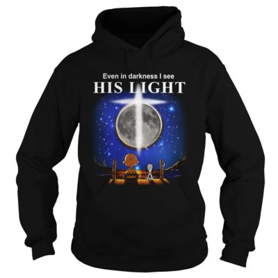 charlie brown snoopy even darkness see light shirt2 400x400 - Charlie Brown & Snoopy: Even In Darkness I See His Light Shirt, Hoodie