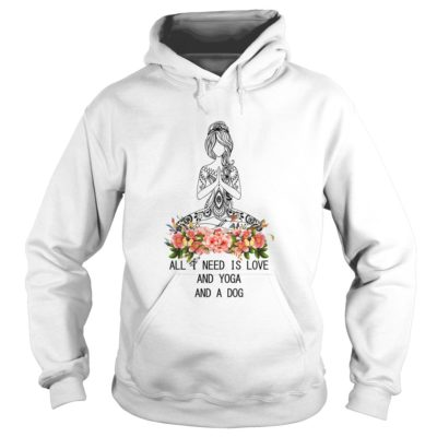 All I need is Love and Yoga And a Dog shirt2 400x400 - All I need is Love and Yoga And a Dog shirt, ladies, long sleeve