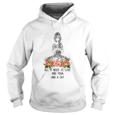All I need is Love and Yoga and Cat shirt2 400x400 - All I need is Love and Yoga and Cat shirt, hoodie, ladies