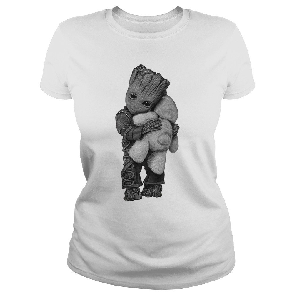 Baby Groot hug Teddy Bear shirt - Baby Groot hug Teddy Bear shirt, ladies, hoodie, long sleeve