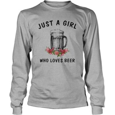 Just a girl who loves Beer shirt3 400x400 - Just a girl who loves Beer shirt , ladies, long sleeve