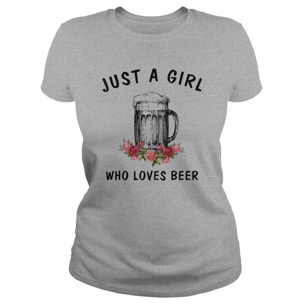 Just a girl who loves Beer shirt4 - Just a girl who loves Beer shirt , ladies, long sleeve