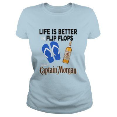 Life Is Better In Flip Flops with Captain Morgan t shirt2 400x400 - Life Is Better In Flip Flops with Captain Morgan t-shirt, long sleeve