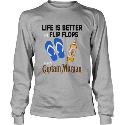 Life Is Better In Flip Flops with Captain Morgan t shirt3 400x400 - Life Is Better In Flip Flops with Captain Morgan t-shirt, long sleeve