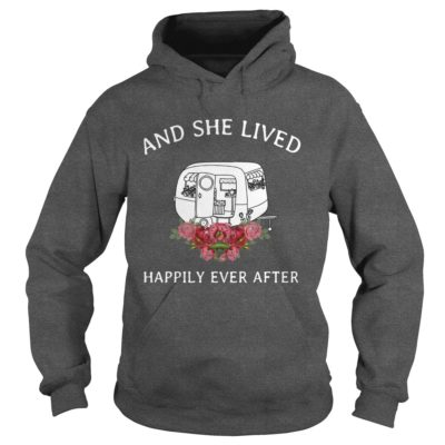 Retro camper and she lived happily ever after shirt1 400x400 - Retro camper and she lived happily ever after shirt, ladies, tank