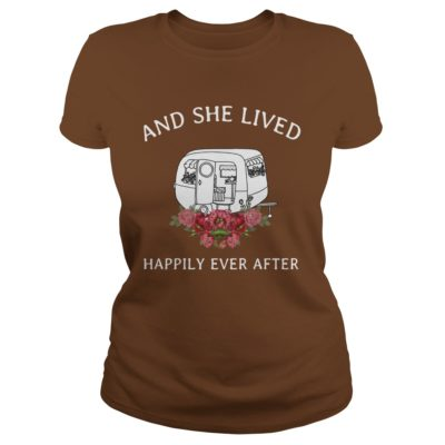 Retro camper and she lived happily ever after shirt3 400x400 - Retro camper and she lived happily ever after shirt, ladies, tank