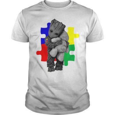 Autism Groot hug Teddy bear guys tee 400x400 - Autism Groot hug Teddy bear shirt, ladies