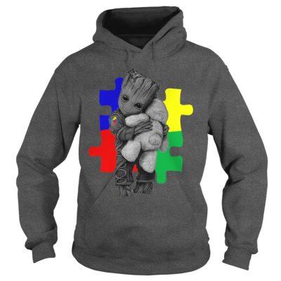 Autism Groot hug Teddy bear hoodie 400x400 - Autism Groot hug Teddy bear shirt, ladies