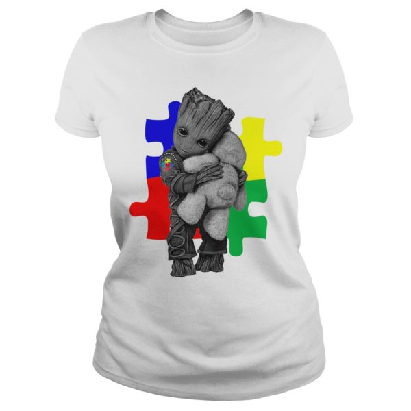 Autism Groot hug Teddy bear shirt 600x600 - Autism Groot hug Teddy bear shirt, ladies