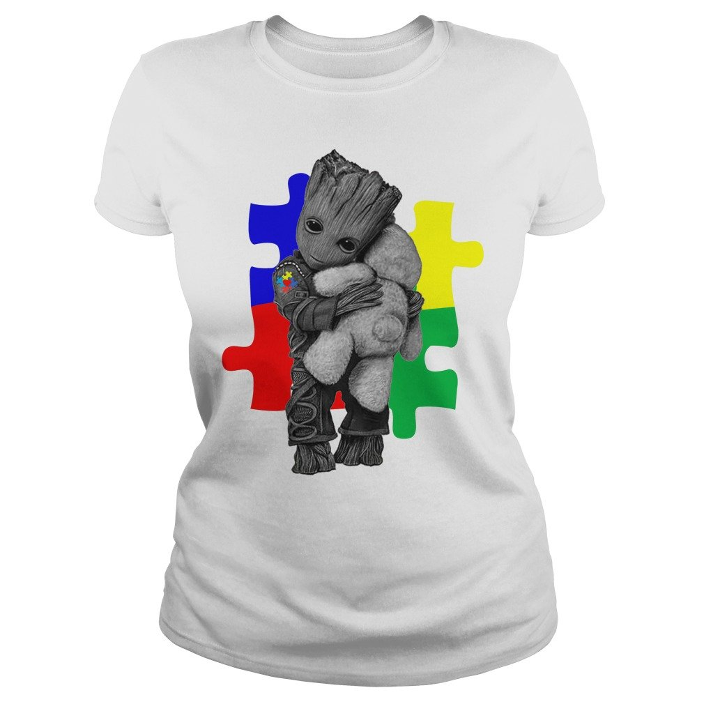 Autism Groot hug Teddy bear shirt - Autism Groot hug Teddy bear shirt, ladies