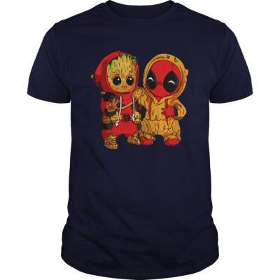 Deadpool and Baby Groot guys tee 400x400 - Deadpool and Baby Groot shirt, guys tee, ladies tee, tank top