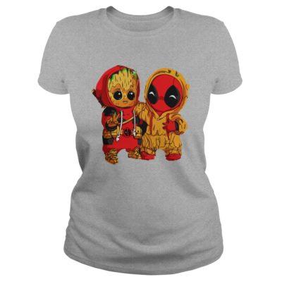 Deadpool and Baby Groot ladies tee 400x400 - Deadpool and Baby Groot shirt, guys tee, ladies tee, tank top