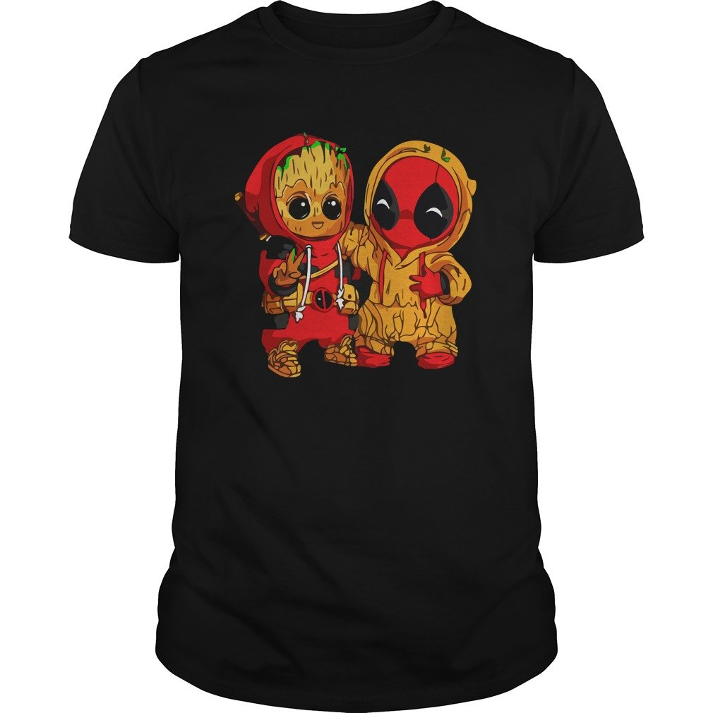 Deadpool and Baby Groot shirt - Deadpool and Baby Groot shirt, guys tee, ladies tee, tank top