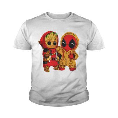 Deadpool and Baby Groot youth tee 400x400 - Deadpool and Baby Groot shirt, guys tee, ladies tee, tank top