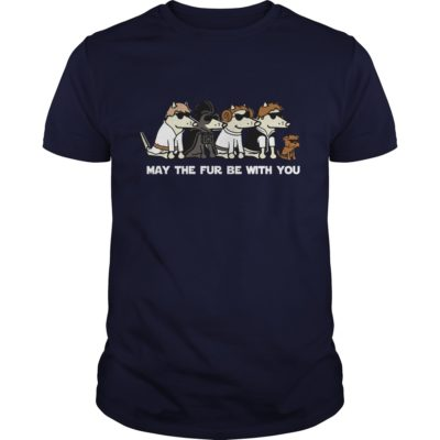 Dogs May the fur be with you shirt1 400x400 - Dogs: May the fur be with you shirt, ladies, LS