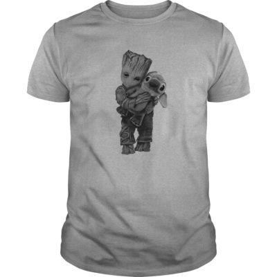 Groot Hugs Stitch guys tee 400x400 - Groot Hugs Stitch shirt, ladies tee, long sleeve, hoodie