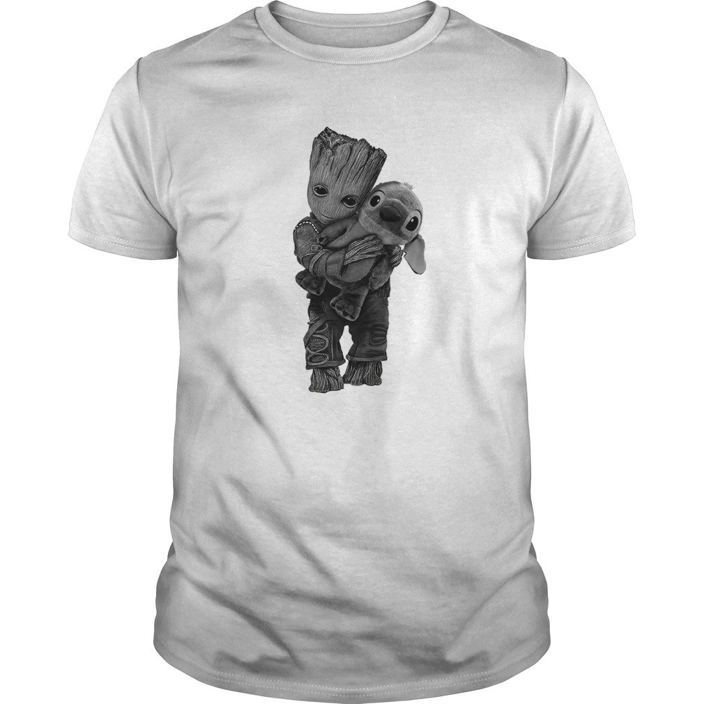 Groot Hugs Stitch shirt - Groot Hugs Stitch shirt, ladies tee, long sleeve, hoodie