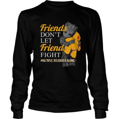 Groot hug Teddy Friends dont let Friends fight Multiple Sclerosis alone long sleeve 400x400 - Groot hug Teddy Friends don't let Friends fight Multiple Sclerosis alone shirt